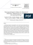 Neuropsychological evidence for dimensional schizotypy (Fisher et al. 2004) - REVIEW