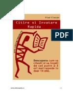 Citire Si Invatare Rapida (Vlad Ciocan)