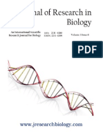 Journal of Research in Biology Volume 3 Issue 6