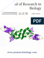Journal of Research in Biology Volume 3 Issue 8