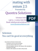 Automating With Selenium2.5 by Quontra Solutions