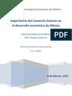 Importancia Del Comercio Exterior en El Desarrollo Económico de México Semana 4