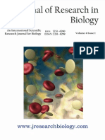 Journal of Research in Biology Volume 4 Issue 1