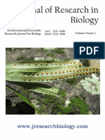 Journal of Research in Biology Volume 4 Issue 2
