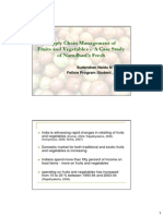 Case study for Supply chain management