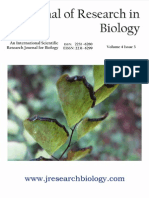 Journal of Research in Biology Volume 4 Issue 3