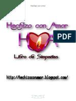 Libro de Simpatias de HECHIZO CON AMOR