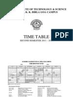 Timetable Sem II -2013-14(Jan 12)