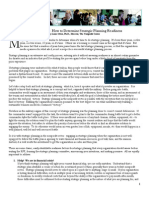 White Paper 1 Strategic Planning Readiness