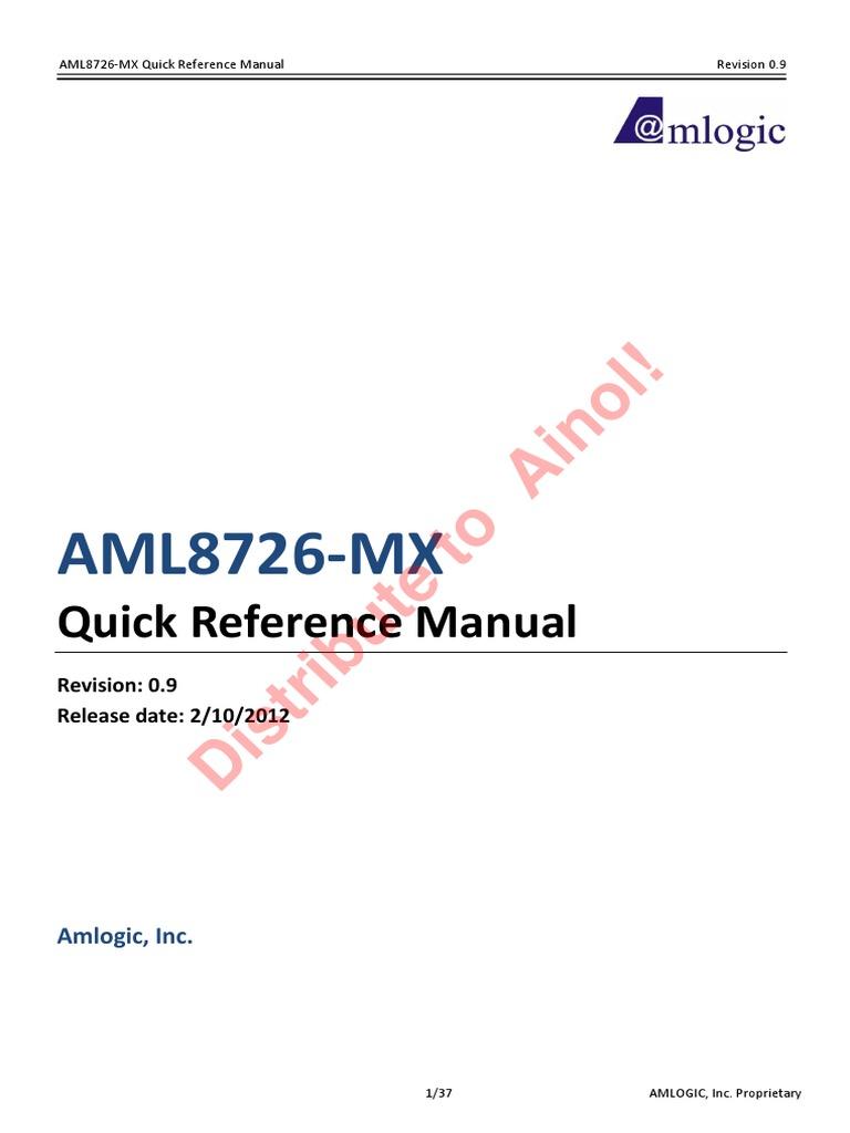 Amlogic Aml8726 Mxs Tablet Firmware Download aml8726-mx_qrm v0.9 20120117   arm architecture   graphics