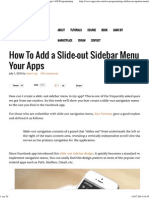 How to Add a Slide-Out Sidebar Menu in IOS Apps _ IOS Programming