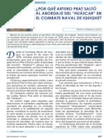 ¿Por Que Arturo Prat Salto al Abordaje en el Combate Naval de Iquique?