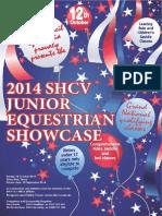 2014 SHCV Junior Equestrian Showcase Schedule