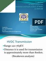 Analysis of HVDC on MATLAB