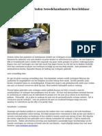 De voordelen van  Vinden  tweedehandsauto's  Beschikbaar Online