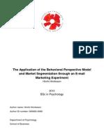 Application of Behavioural Perspective Model