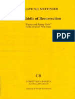 Tryggve N. D. Mettinger the Riddle of Resurrection Dying and Rising Gods in the Ancient Near East Coniectanea Biblica Citit
