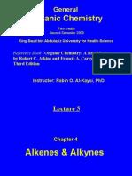Lecture 5 - Alkenes & Alkynes
