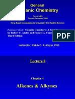 Lecture 8 - Alkenes & Alkynes