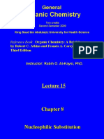 Lecture 15- Nucleophilic Substit