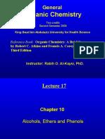 Lecture 17 - Alcohols, Phenols
