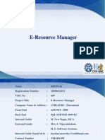 E - Resource Manager