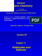 lecture 18- Aldehydes and Ketones