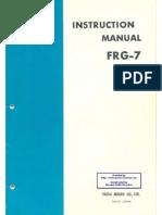 Yaesu Frg 7 Receiver Inst Manual