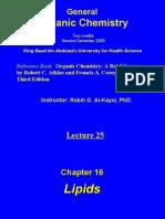 Lecture 25 - lipids