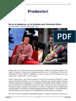 Mires, Fernando; No Es El Gobierno, Es El Sistema
