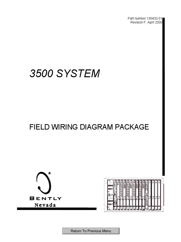 3500 System Field Wiring Diagram Package 130432
