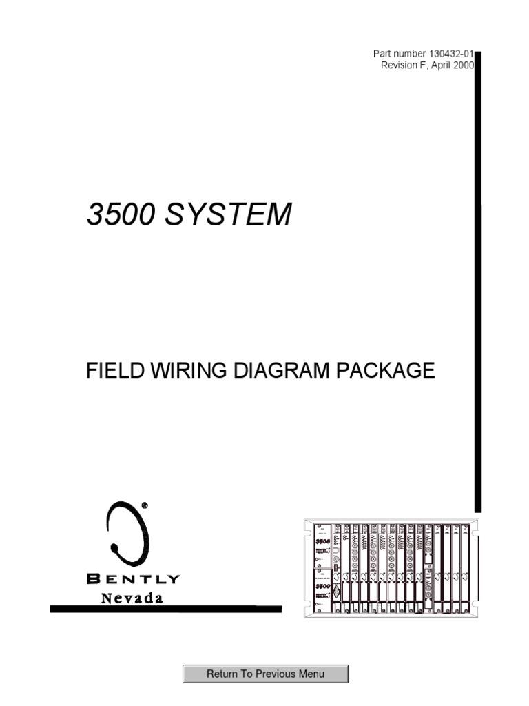 [SCHEMATICS_4PO]  3500 System Field Wiring Diagram Package 130432-01 | Electronics | Computer  Engineering | Bently Nevada Wiring Diagram |  | Scribd