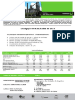 Press-release referente ao 2T14