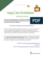 Angry Birds Printable Pack Preschool