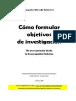 Como Formular Objetivos de Investigación Hurtado, 2005