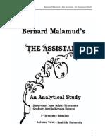 Bernard Malamud's the Assistant
