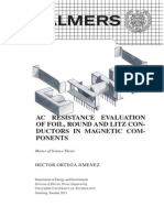 Ac Resistance Evaluation of Foil, Round and Litz Conductors in Magnetic Components