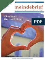 Gemeindebrief 2014 07 Sommer - 14. Ausgabe