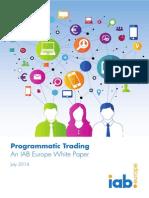 IAB Europe Programmatic Trading White Paper July 2014 2