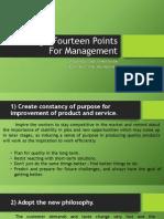 Deming's Fourteen Points for Management BRJ