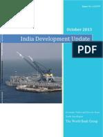 India Development Update Oct '13 World Bank