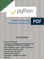 Python_de Hola Mundo a Conexiones DB