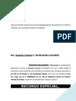 Recurso Especial Penal Criminal Trafico Drogas Associacao Regime Inicial Pena Modelo 503 PN174 2014