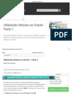 Utilizando Vetores No Oracle - Parte 1