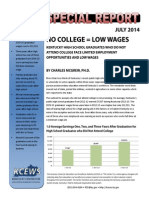 No College = Low Wages in Kentucky