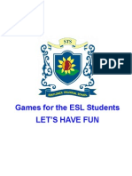 Games for the ESL Students