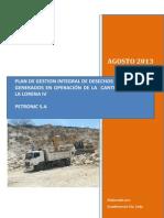 Plan de Gestion de Residuos Petronic s a Rvdo