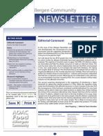 AOAC Food Allergen Community Newsletter 2014_Issue 1