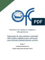 Relatório de Química Orgânica