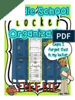 Student Organization Locker Liner Activity